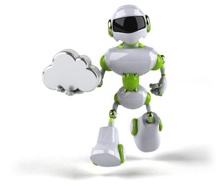 Green robot - 3D Illustration Standard-Bild - 116098933