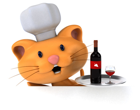 Fun cat - 3D Illustration Stock fotó