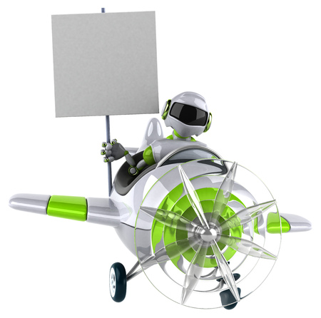 Green robot - 3D Illustration Standard-Bild - 116099679