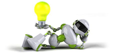 Green robot - 3D Illustration Standard-Bild - 116300332