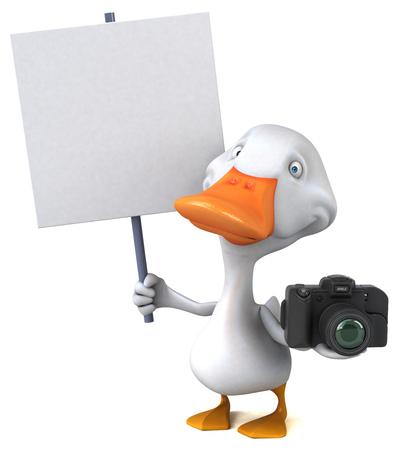 Fun duck - 3D Illustration