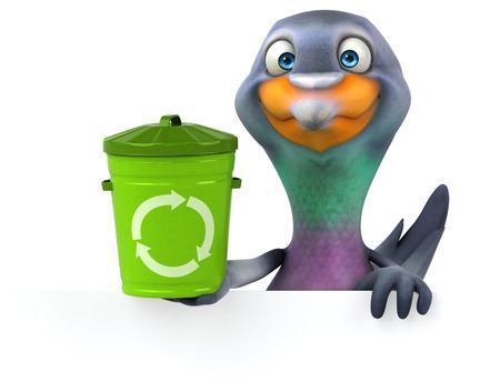 Fun pigeon - 3D Illustration Standard-Bild - 116387757