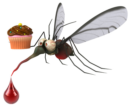 Mosquito - 3D Illustration Standard-Bild - 116251483