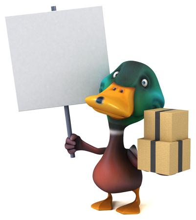 Fun duck - 3D Illustration Foto de archivo - 116251754