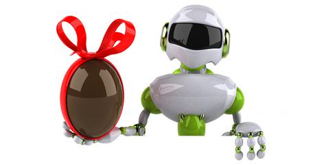 Green robot - 3D Illustration Standard-Bild - 116387857