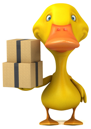 Fun duck - 3D Illustration Foto de archivo - 116252072