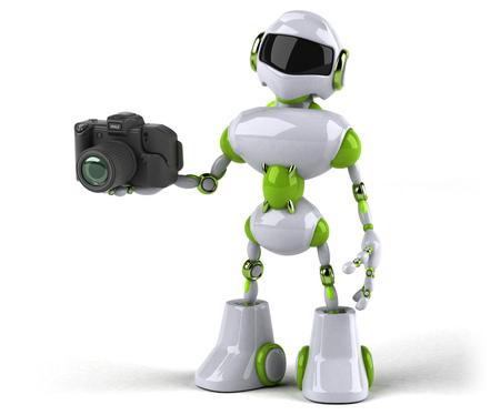 Green robot - 3D Illustration Standard-Bild - 116562536
