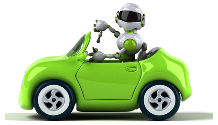 Green robot - 3D Illustration Standard-Bild - 116560951