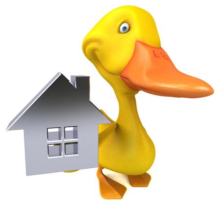 Fun duck - 3D Illustration Foto de archivo - 116562788