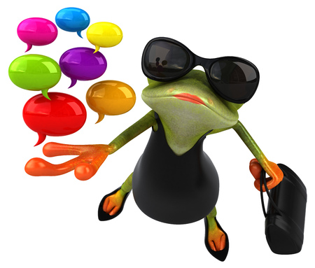 Fun frog - 3D Illustration Stok Fotoğraf - 117386045