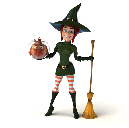 Sexy witch - 3D Illustration Stockfoto
