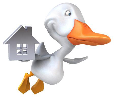 Fun duck - 3D Illustration Foto de archivo - 118495713