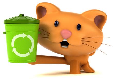 Fun cat - 3D Illustration Imagens