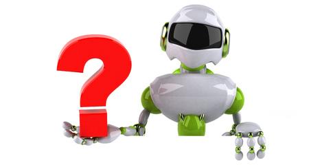 Green robot - 3D Illustration Standard-Bild - 118911363