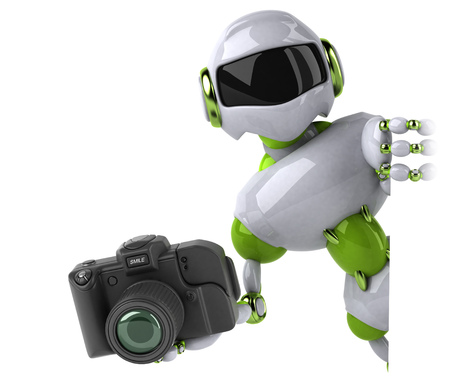 Green robot - 3D Illustration Standard-Bild - 118912061