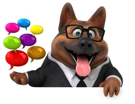 German shepherd dog - 3D Illustration Stock Photo
