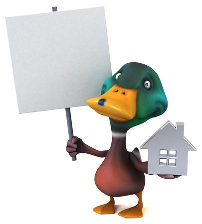 Fun duck - 3D Illustration Foto de archivo - 119836017