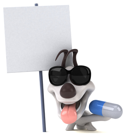 Fun dog - 3D Illustration