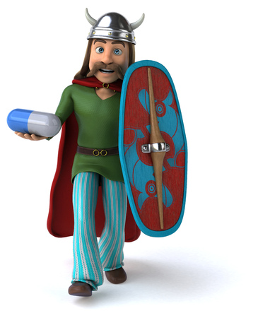 Fun Gaul - 3D Illustration Stok Fotoğraf