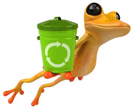 Fun yellow frog - 3D Illustration Banque d'images - 121276196