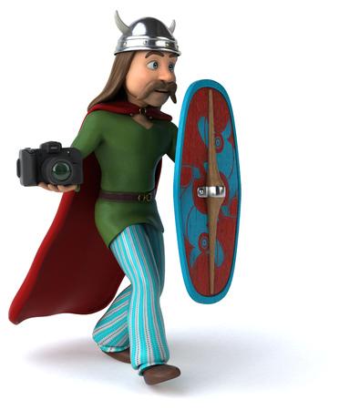 Fun Gaul - 3D Illustration Stock Photo