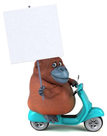 Fun orang utan - 3D Illustration