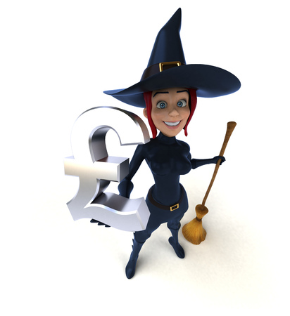 Sexy witch - 3D Illustration Imagens