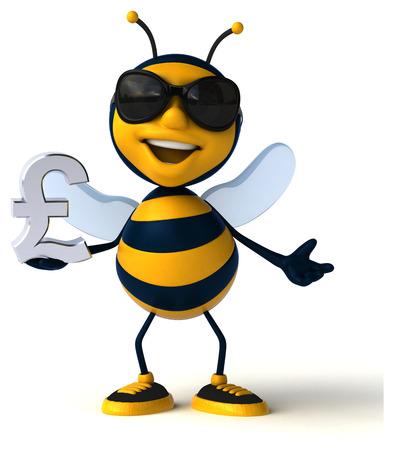 Fun bee - 3D Illustration Foto de archivo