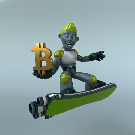 Green Robot - 3D Illustration