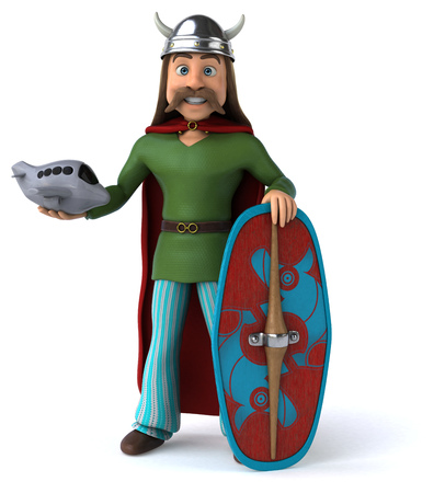 Gaul with an airplane and shield