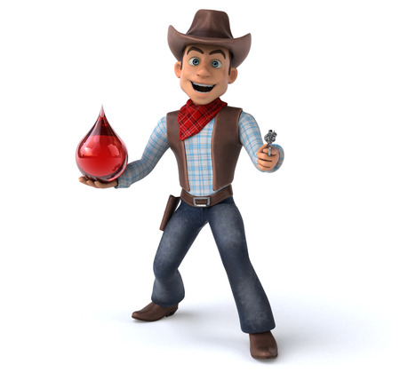 Cowboy with blood droplet