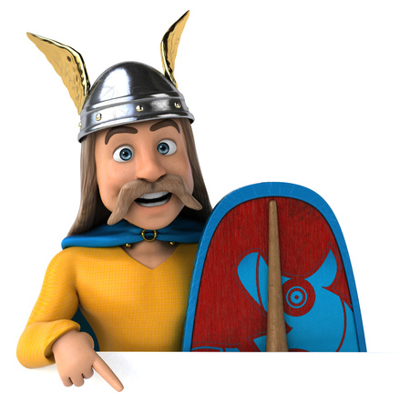 Gaul with shield pointing below Stock fotó