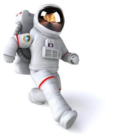 Astronaut walking