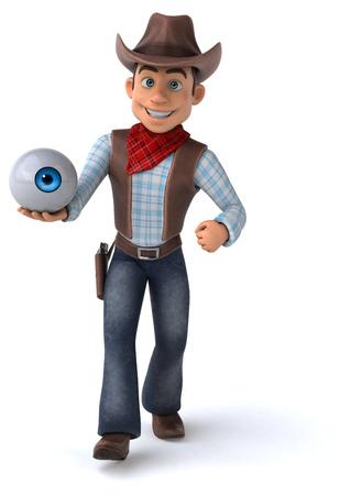 Cowboy holding an eyeball Фото со стока