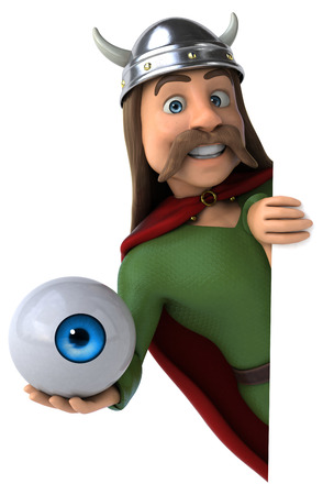 Gaul holding an eyeball Stock fotó