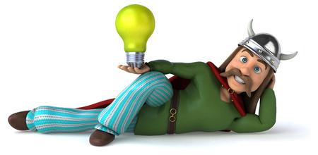 Gaul holding a lightbulb