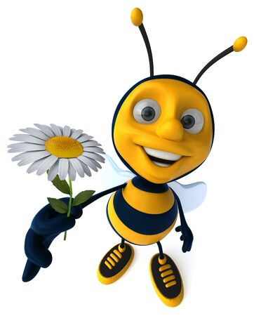 Fun bee - 3D Illustration Reklamní fotografie