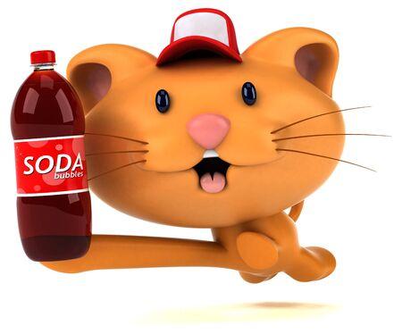 Fun cat - 3D Illustration 版權商用圖片