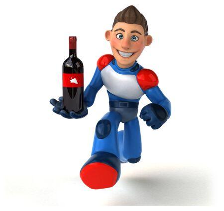 Super modern superhero - 3D Illustration Reklamní fotografie - 124648424