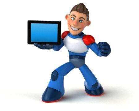 Super modern superhero - 3D Illustration Reklamní fotografie - 124648460