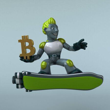 Green Robot - 3D Illustration Reklamní fotografie - 124648483
