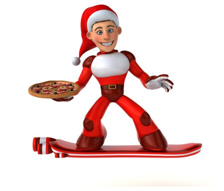 Fun Super Santa Claus - 3D Illustration Reklamní fotografie - 124648508