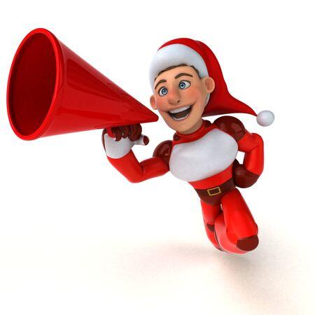 Fun Super Santa Claus - 3D Illustration Reklamní fotografie - 124648750