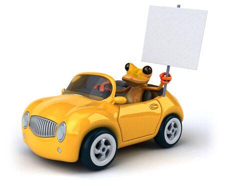 Fun frog- 3D Illustration