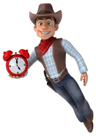Fun Cowboy - 3D Illustration Stock Photo