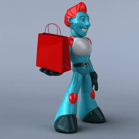 Red Robot - 3D Illustration Stock fotó