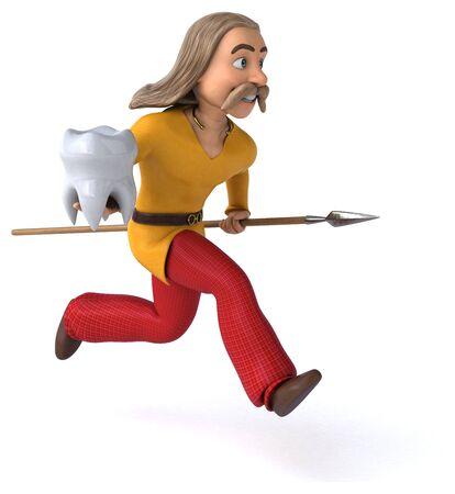 Fun gaul - 3D Illustration Stok Fotoğraf