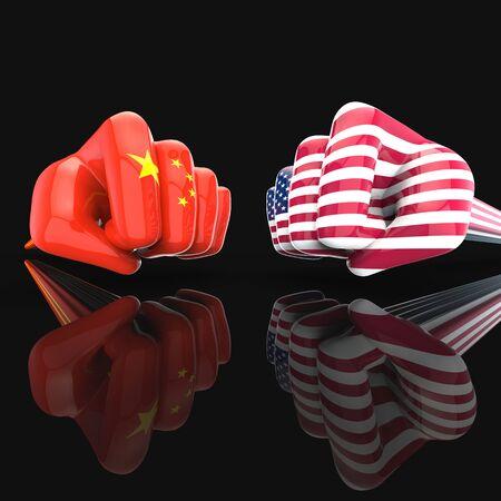 Fist fight - 3D Illustration