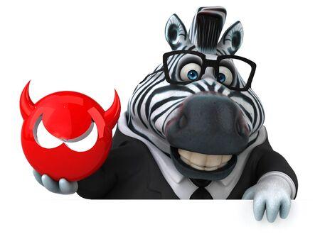 Fun zebra - 3D Illustration 스톡 콘텐츠