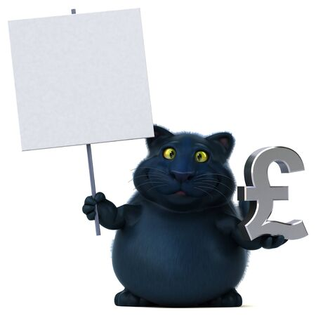 Fun cat - 3D Illustration Reklamní fotografie